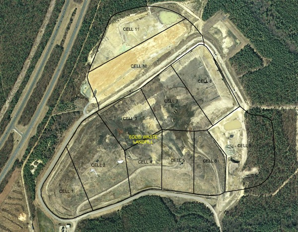 Landfill Cell Layout