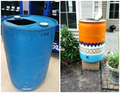Rain barrel collage